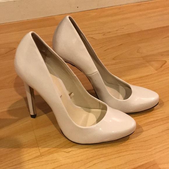 Zara Shoes | Zara White Patent Pumps